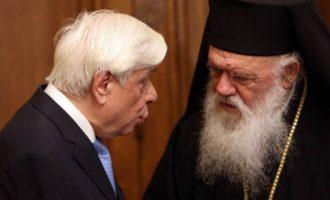 Ο Παυλόπουλος τηλεφώνησε στον Αρχιεπίσκοπο Ιερώνυμο για τη βόμβα στον Αγ. Διονύσιο – «Αμέριστη συμπαράσταση»