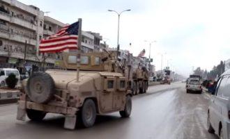 Αμερικανικά τεθωρακισμένα στη Μανμπίτζ – Δεν υπάρχει συριακός στρατός (βίντεο)