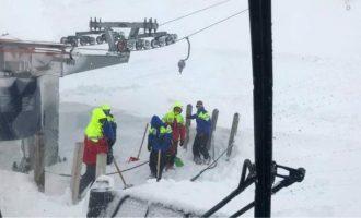 Χιονοστιβάδα στα Καλάβρυτα – Έκλεισε το χιονοδρομικό κέντρο
