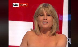 Η αδερφή του Μπόρις Τζόνσον γδύθηκε στον «αέρα» εκπομπής για το Brexit (βίντεο)
