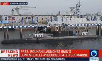 Το Ιράν ναυπήγησε υποβρύχιο εξοπλισμένο με πυραύλους κρουζ
