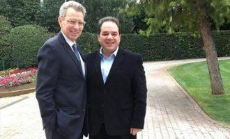 Ο Τζέφρι Πάιατ συναντήθηκε με τον διοικητή του Αγίου Όρους Κωνσταντίνο Δήμτσα