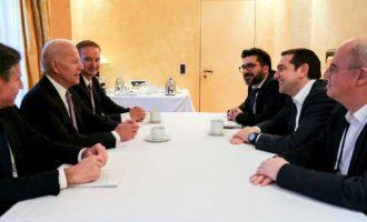 Ευρεία σύμπτωση απόψεων διαπίστωσαν Τσίπρας και Μπάιντεν στο Μόναχο