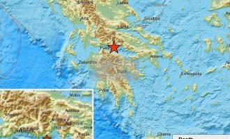 Ισχυρός σεισμός 5,3 Ρίχτερ στη Φωκίδα- Ταρακουνήθηκε και η Αττική – Τι είπε ο Λέκκας