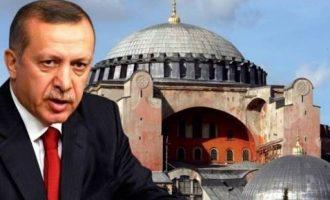 Παραλογίζεται πάλι ο Ερντογάν: Θα αλλάξω από «μουσείο» σε «τέμενος» την Αγία Σοφία