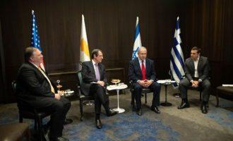 Μάικ Πομπέο: Εταίροι στην ενέργεια και την ασφάλεια Ισραήλ, Κύπρος και Ελλάδα