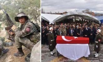 Κηδεύτηκε 25χρονος Τούρκος κομάντο που σκότωσαν οι Κούρδοι στη Συρία