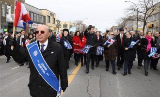 «Zito Hellas!» αναφώνησε ο Τριντό μετά την παρέλαση στο Μόντρεαλ