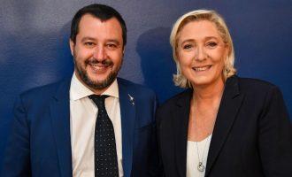 Ενώνουν δυνάμεις Λεπέν-Σαλβίνι: «Έτοιμοι να κερδίσουμε τις ευρωεκλογές»