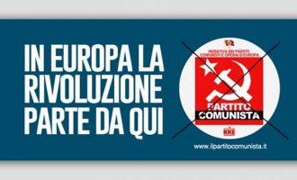 Το ιταλικό κομμουνιστικό κόμμα στις ευρωεκλογές με ψηφοδέλτιο που έχει το σήμα του ΚΚΕ