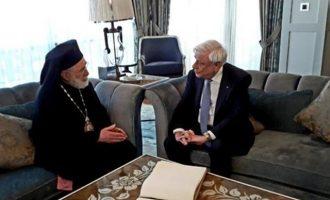 Ο Προκόπης Παυλόπουλος συναντήθηκε με τον Μητροπολίτη Βηρυτού Ηλία