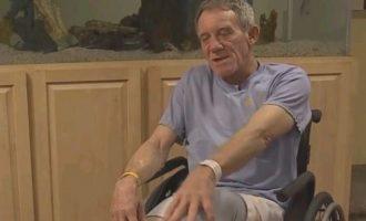 63χρονος έκοψε το πόδι του με έναν σουγιά για να σώσει τη ζωή του
