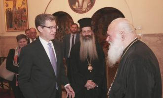 Αμερικανικοί διπλωμάτες συναντήθηκαν με τον Αρχιεπίσκοπο Αθηνών (φωτο)