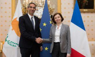 Η Γαλλίδα υπ. Άμυνας καταδίκασε την τουρκική εισβολή στην κυπριακή ΑΟΖ