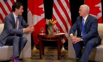 Πενς: ΗΠΑ και Καναδάς θα συνεργαστούν για την κρίση στη Βενεζουέλα