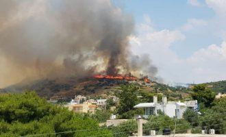Υπό έλεγχο η φωτιά στο Λαγονήσι – Την έβαλε κατά λάθος ηλικιωμένος