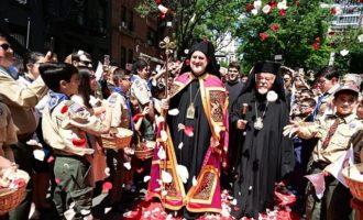 Λαμπρή η τελετή ενθρόνισης του νέου Αρχιεπισκόπου Αμερικής Ελπιδοφόρου
