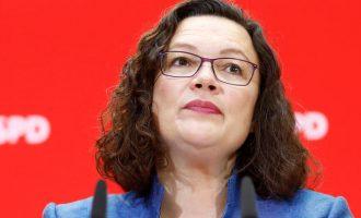 Γερμανία: Παραιτήθηκε από την ηγεσία του SPD η Άντρεα Νάλες μετά το εκλογικό φιάσκο