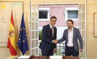 Σοσιαλιστές και Podemos έδωσαν τα χέρια για σχηματισμό κυβέρνησης στην Ισπανία