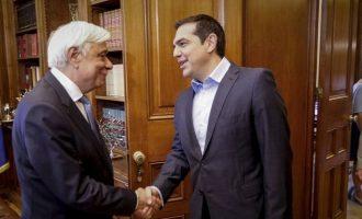 Εκλογές για να μην μπει σε περιπέτειες η οικονομία ζήτησε ο Τσίπρας στον Παυλόπουλο