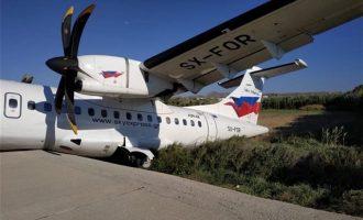 Πανικός στη Νάξο: Αεροσκάφος έπεσε σε χαντάκι