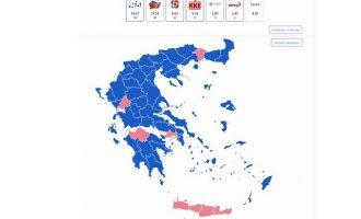 Νίκη με αυτοδυναμία της ΝΔ με 39,68% με καταμετρημένο το 78,16% των ψήφων