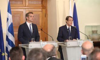 Μητσοτάκης: Πλήρης κατάργηση των εγγυήσεων, αποχώρηση των κατοχικών στρατευμάτων