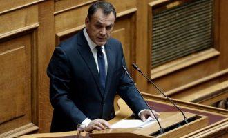 Παναγιωτόπουλος: Δεν πρόκειται να ανεχθούμε παραβατικές συμπεριφορές της Τουρκίας