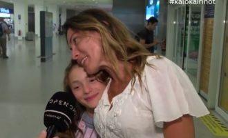Η Αλεξάνδρα Πασχαλίδου βαφτίζει την 11χρονη κόρη της (βίντεο)
