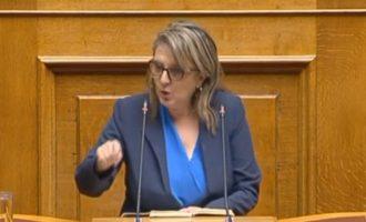 Τελιγιορίδου προς Νέα Δημοκρατία: «Μην τολμήσετε συνεκμετάλλευση του Αιγαίου» (βίντεο)
