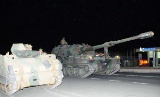 Οι Τούρκοι συγκεντρώνουν τεθωρακισμένα για να επιτεθούν στους Κούρδους της Συρίας (φωτο)