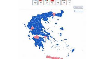 Νίκη ΝΔ με 39,68% στο 87,92% των ψήφων – Οριστικά εκτός Βουλής η Χρυσή Αυγή