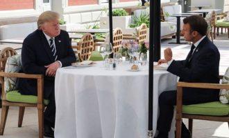Γεωπολιτικό γεύμα εργασίας είχαν Τραμπ και Μακρόν πριν τους G7