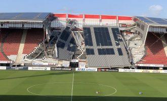 Ολλανδία: Κατέρρευσε η στέγη στο γήπεδο της Αλκμάαρ