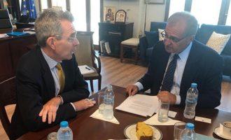 Τι συζήτησε ο Πάιατ με τον Έλληνα υφυπουργό Εξωτερικών Αντώνη Διαματάρη
