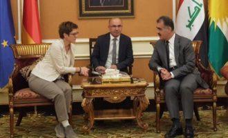 Στο ιρακινό Κουρδιστάν η Γερμανίδα υπουργός Άμυνας