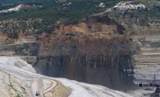 Κατολίσθηση σε ορυχείο λιγνίτη στο Προσήλιο Κοζάνης