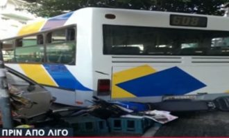 Πανικός στου Ζωγράφου: Τροχαίο ατύχημα με λεωφορείο μετά από «τρελή» πορεία (βίντεο)