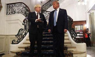 Ντ. Τραμπ: Ο Μπόρις Τζόνσον είναι ο «σωστός άνθρωπος» για να βγάλει τη Βρετανία από την ΕΕ