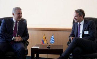 Νέα Υόρκη: O Μητσοτάκης συναντήθηκε με τον πρόεδο της Κολομβίας – Τι συμφώνησαν
