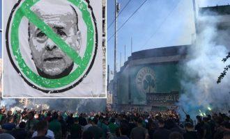 Να φύγει ο Αλαφούζος από τον Παναθηναϊκό διαδήλωσαν 4.000 οπαδοί σε διαμαρτυρία