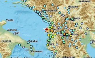 Στην Αλβανία τρέμει η γη – Δύο ισχυροί σεισμοί μέσα σε λίγα λεπτά