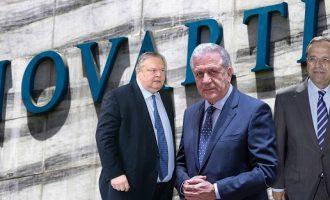 Σαμαράς, Βενιζέλος, Αβραμόπουλος και Αγγελής καταθέτουν για τη Novartis