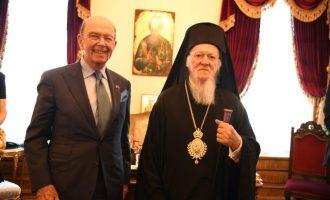 Ο Γουίλμπουρ Ρος συναντήθηκε με τον Οικ. Πατριάρχη – Στο Φανάρι μαζί του πολλοί Αμερικανοί αξιωματούχοι