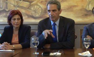 O Συρίγος λέει στους Νεοδημοκράτες στη Βέροια: «Εάν φύγει το Βόρεια Μακεδονία θα μείνει σκέτο Μακεδονία»