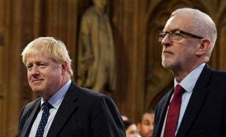 Προβάδισμα Τζόνσον με επτά μονάδες δέκα μέρες πριν τις εκλογές στη Βρετανία