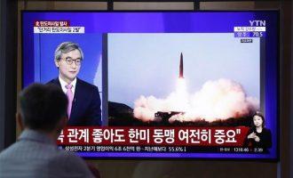 Η Βόρεια Κορέα εκτόξευσε πυραύλους από υποβρύχιο – Νέες δοκιμές
