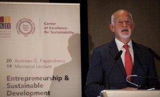 Παπανδρέου: Η Ευρώπη πρέπει να γίνει πηγή έμπνευσης και green deal