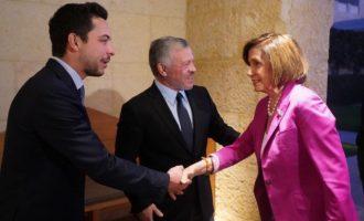 Η Νάνσι Πελόσι στην Ιορδανία για να δει τον βασιλιά Αμπντάλα