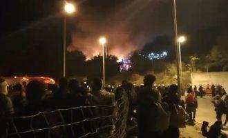 Σάμος: Φωτιά και επεισόδια μεταξύ προσφύγων στο Κέντρο Υποδοχής